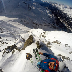 View from top of line: South Couloir of Becs Rouges